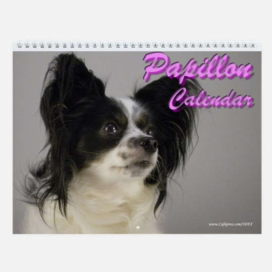 Papillon Dog Gigi Wall Calendar