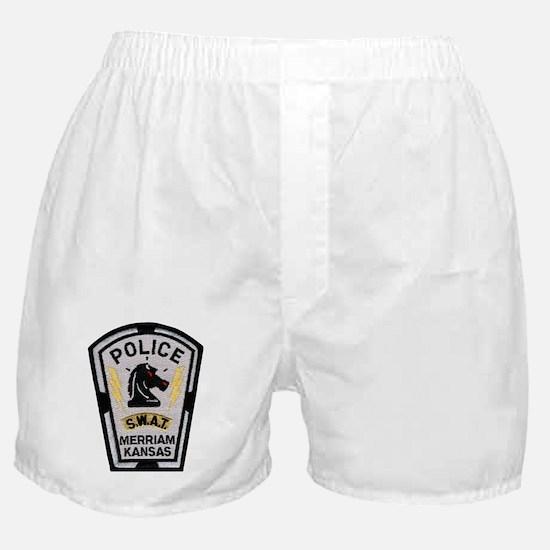 Merriam Police SWAT Boxer Shorts