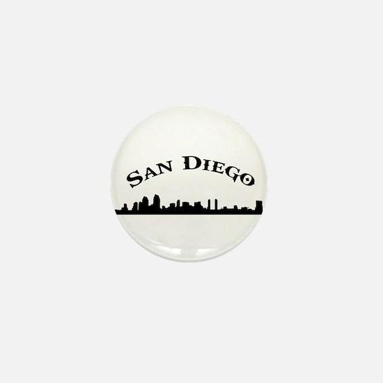 Unique San diego california Mini Button