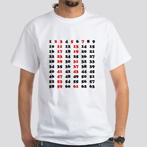 Prime Numbers White T-Shirt