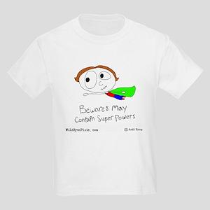 WildEyedPixie Superpowers Kids Light T-Shirt