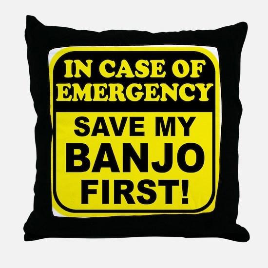 Banjo Emergency Throw Pillow