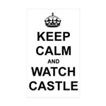 """Keep Calm And Watch Castle"" Sticker (Rectangle 50"