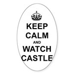 """Keep Calm And Watch Castle"" Sticker (Oval 50 pk)"