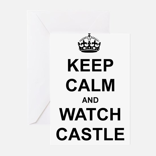 """""""Keep Calm And Watch Castle"""" Greeting Cards (Pk of"""