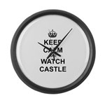 """Keep Calm And Watch Castle"" Large Wall Clock"