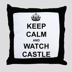 """""""Keep Calm And Watch Castle"""" Throw Pillow"""