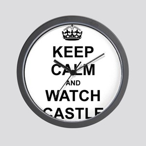 """""""Keep Calm And Watch Castle"""" Wall Clock"""