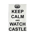 """Keep Calm And Watch Castle"" Rectangle Magnet (10"
