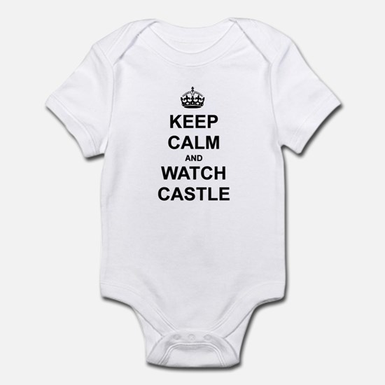 """Keep Calm And Watch Castle"" Infant Bodysuit"