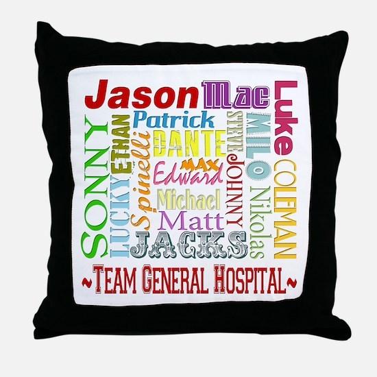 Team General Hospital Throw Pillow