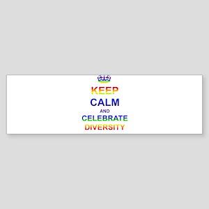 Keep Calm and Celebrate Diver Sticker (Bumper)