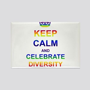 Keep Calm and Celebrate Diver Rectangle Magnet