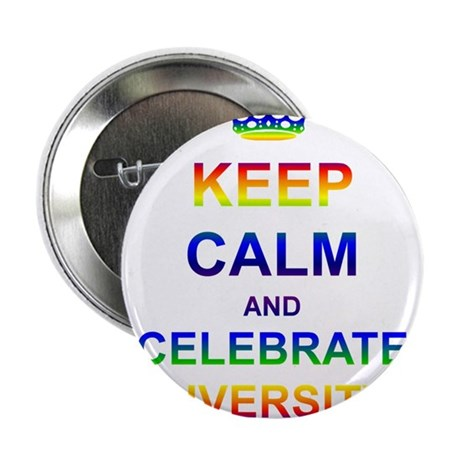 """Keep Calm and Celebrate Diver 2.25"""" Button (10 pac"""