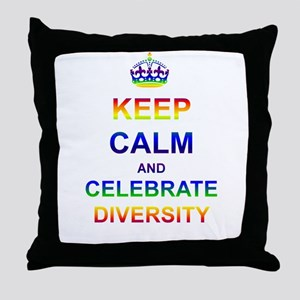 Keep Calm and Celebrate Diver Throw Pillow