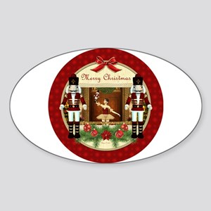 Red Nutcracker Ballerina Sticker