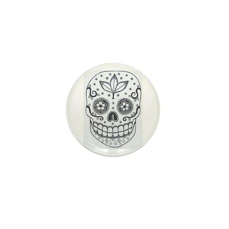 Sugar Skull Mini Button (100 pack)