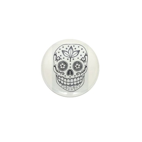 Sugar Skull Mini Button (10 pack)