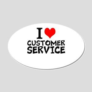 I Love Customer Service Wall Decal