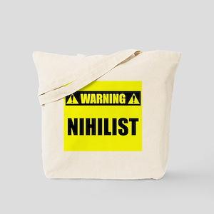WARNING: Nihilist Tote Bag