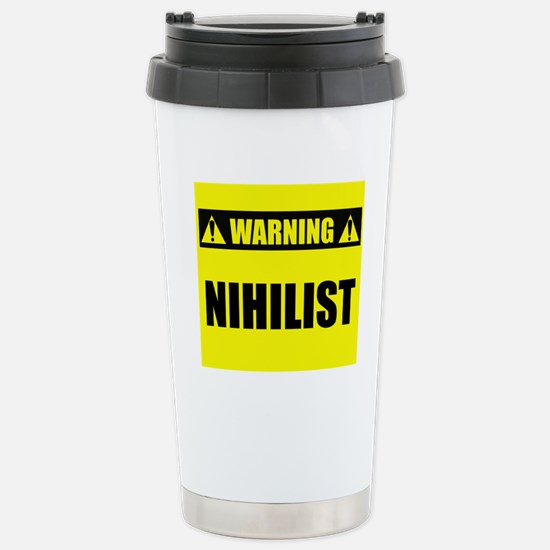 WARNING: Nihilist Stainless Steel Travel Mug