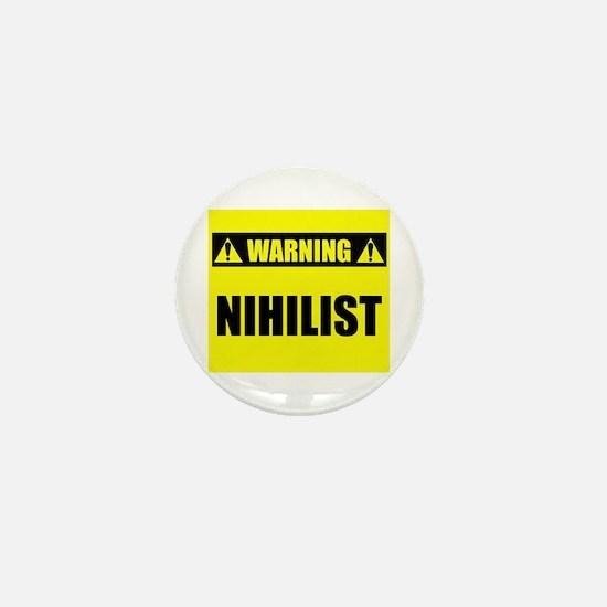 WARNING: Nihilist Mini Button