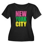 New York City Women's Plus Size Scoop Neck Dark T-