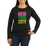 New York City Women's Long Sleeve Dark T-Shirt