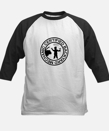 Certified Backyard Mechanic Kids Baseball Jersey