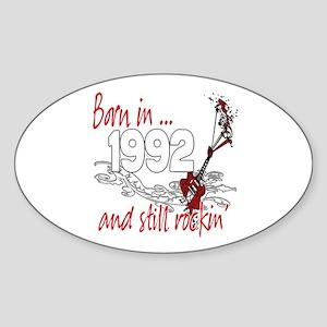 Born in 1992 Sticker (Oval)
