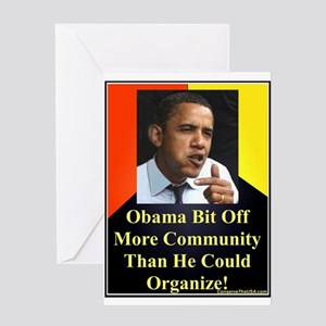 """""""More Than He Could Handle"""" Greeting Card"""