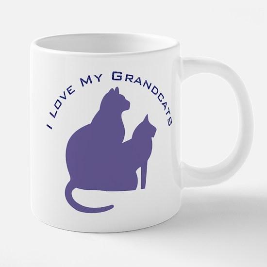 I Love My GrandCats 111 20 oz Ceramic Mega Mug