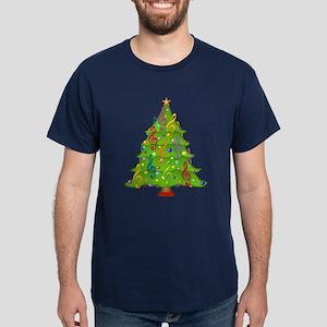 Treble Clef Christmas Dark T-Shirt
