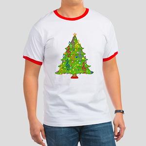 Treble Clef Christmas Ringer T