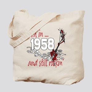 Born in 1958 Tote Bag