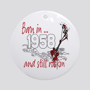 Born in 1958 Ornament (Round)