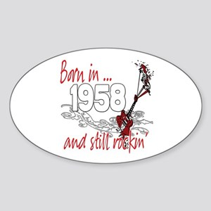 Born in 1958 Sticker (Oval)