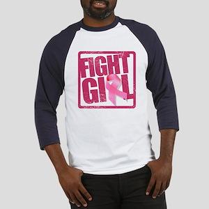 Fight Girl - Breast Cancer Baseball Jersey