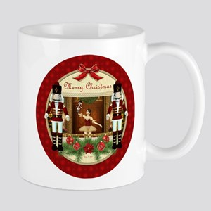 Red Nutcracker ballerina round Mugs