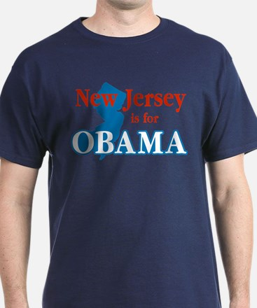 New Jersey Is For Obama T-Shirt