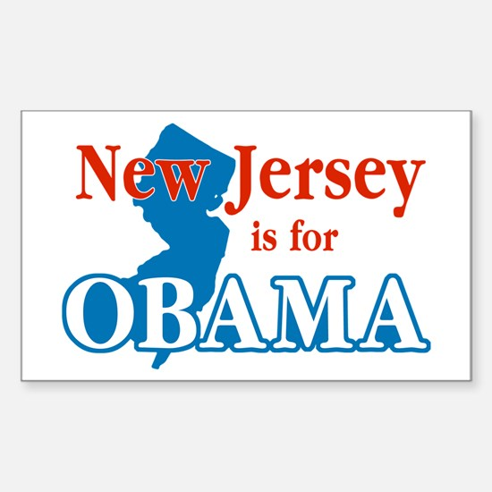 New Jersey Is For Obama Rectangle Stickers