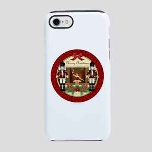 Red Nutcracker ballerina round iPhone 7 Tough Case