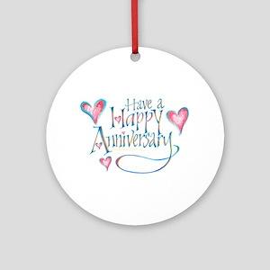 Happy Anniversary Keepsake (Round)