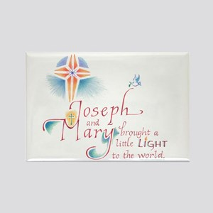 Joseph & Mary Rectangle Magnet