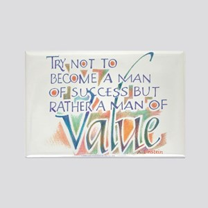 Man of Value - Rectangle Magnet