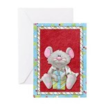 Christmas Mouse With Gift Greeting Card