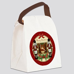 Red Nutcracker Christmas Ballerin Canvas Lunch Bag