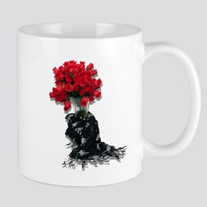 Roses Black Shawl Mug