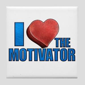 I Heart the Motivator Tile Coaster