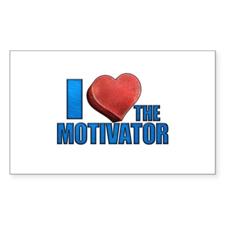 I Heart the Motivator Sticker (Rectangle)